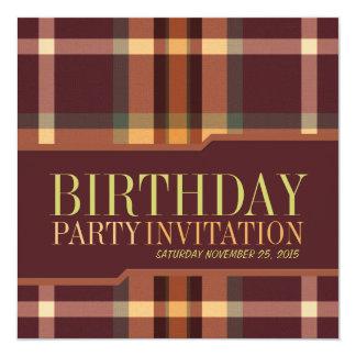 Invitations terreuses de fête d'anniversaire de