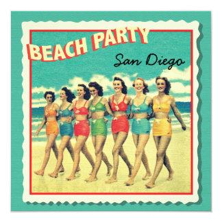 Invitations tropicales de partie de plage de carte