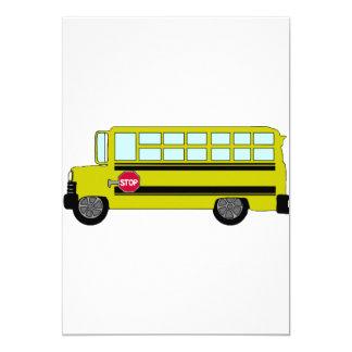 Invitations vertes d'autobus