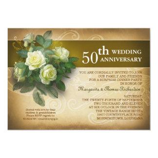 invitations vintages d'anniversaire de mariage