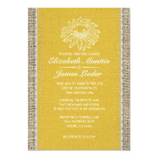 Invitations vintages de mariage de dentelle d'or