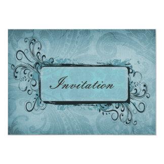 invitations vintages de mariage de flourish d'aqua