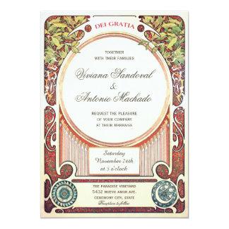 Invitations vintages de mariage de Nouveau d'art I