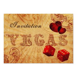 invitations vintages de mariage de Vegas de Carton D'invitation 12,7 Cm X 17,78 Cm