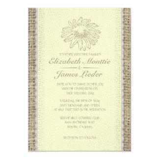 Invitations vintages jaunes de mariage de dentelle