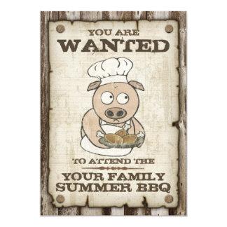 Invitations voulues de BBQ de porc