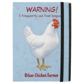 """iPad Pro 12.9"""" Case Agriculteur urbain de poulet de langue drôle de"""