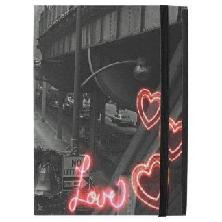 """iPad Pro 12.9"""" Case Amour de néon de signe de restaurant de Blackhawk"""