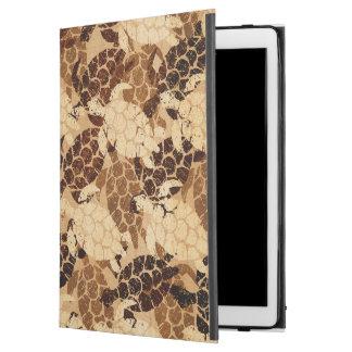 "iPad Pro 12.9"" Case Bois de Faux de Hawaïen de tortue de mer de Honu"
