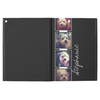 """iPad Pro 12.9"""" Case Carrés noirs et blancs de collage de photo avec le"""