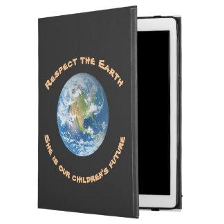 "iPad Pro 12.9"" Case Cas de futur iPad de la terre de planète de"