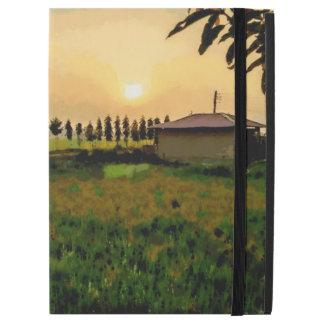 """iPad Pro 12.9"""" Case Crépuscule au-dessus de la ferme"""