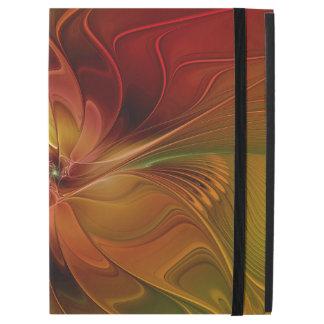 """iPad Pro 12.9"""" Case Fleur verte orange rouge abstraite d'art de"""