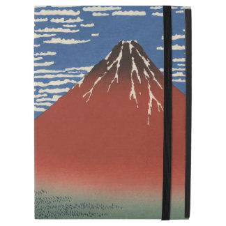 "iPad Pro 12.9"" Case Hokusai Fuji rouge, vent du sud, ciel clair"