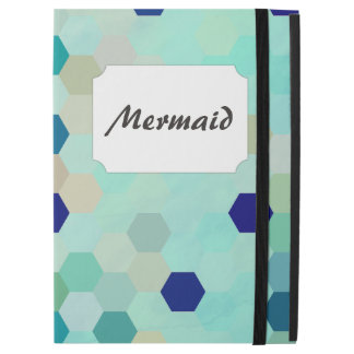 """iPad Pro 12.9"""" Case La sirène bleue mesure l'octogone coloré"""