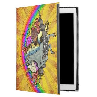 """iPad Pro 12.9"""" Case Licorne, arc-en-ciel et lard impressionnants de"""
