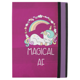 """iPad Pro 12.9"""" Case Licorne humoristique AF magique sur le motif rouge"""