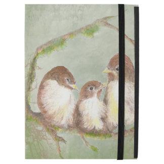 "iPad Pro 12.9"" Case Petit art de nature de famille d'oiseau"