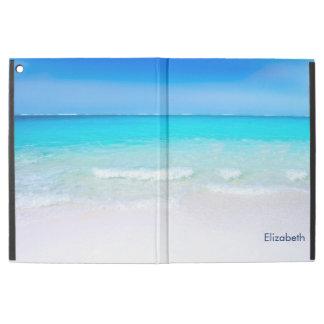 """iPad Pro 12.9"""" Case Plage tropicale avec une coutume de mer de"""
