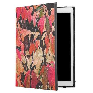 """iPad Pro 12.9"""" Case Pro cas d'iPad abstrait rouge de Bush brûlant"""