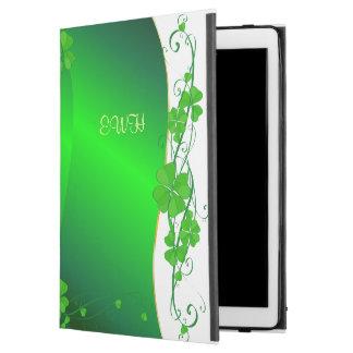 """iPad Pro 12.9"""" Case Shamrock chanceux vert votre monogramme"""