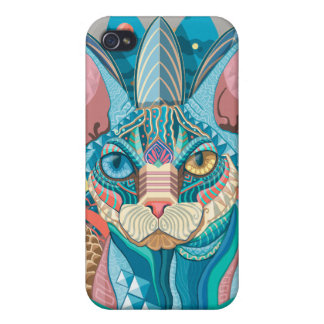 iPhone 4/4S Case Chat cosmique de Sphynx