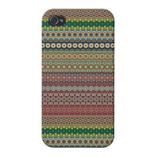 iPhone 4/4S Case Conception abstraite rayée tribale de motif