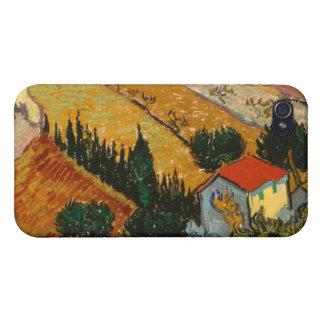 iPhone 4/4S Case Paysage de Vincent van Gogh | avec la Chambre et
