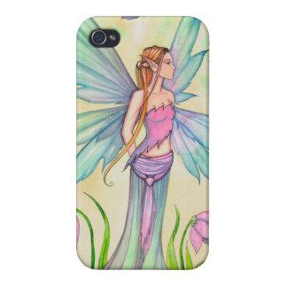iPhone 4 Case Art féerique d'imaginaire de papillon de ressort