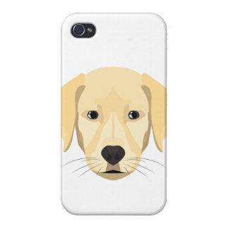 iPhone 4 Case Chiot Retriver d'or d'illustration