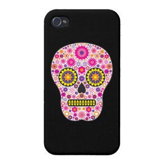 iPhone 4 Case Crâne mexicain rose de sucre