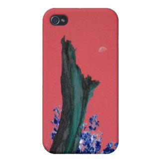 iPhone 4 Case Lune au-dessus d'arbre brûlé Rising_singles_red