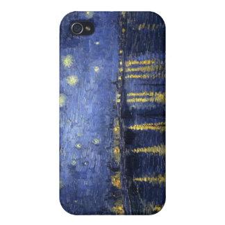 iPhone 4 Case Nuit étoilée au-dessus du cas du Rhône iPhone4