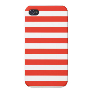 iPhone 4 Case Rayures rouges horizontales