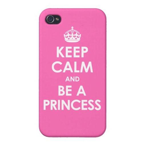 iPhone 4 Heet Roze Savvy houdt Kalm & is een Prins iPhone 4/4S Cover