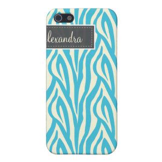 iPhone 5 Case 4 zèbre Pern (aqua)