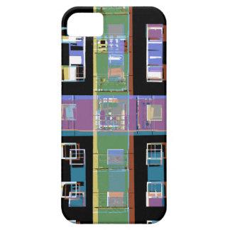 iPhone 5 Case Appartements abstraits colorés de ville