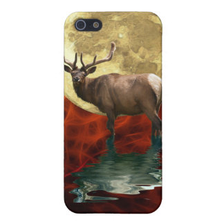iPhone 5 Case Art sauvage d'animal de faune d'élans de wapiti