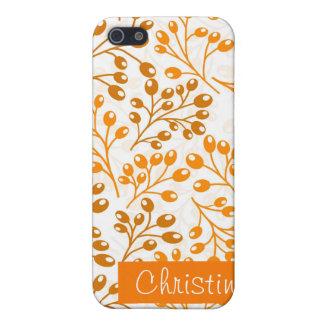 iPhone 5 Case Baies oranges mignonnes d'automne