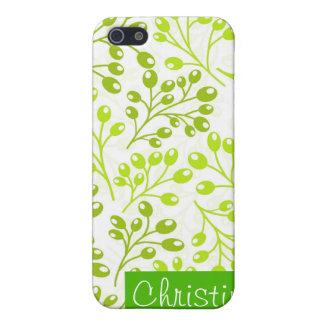iPhone 5 Case Baies vertes mignonnes d'automne