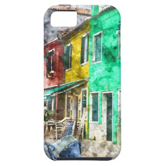 iPhone 5 Case Burano Italie près de Venise Italie avec la Co