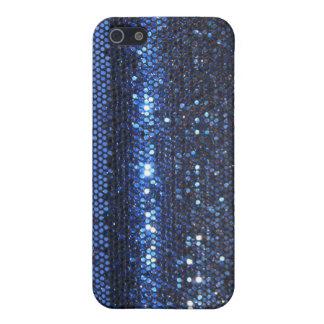 iPhone 5 Case Caisse girrly en cristal scintillante bleue de