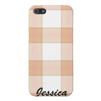 iPhone 5 Case Caisse orange MIGNONNE d'Iphone 4 de plaid