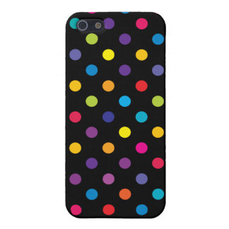 iPhone 5 Case Cas de l'iPhone 5 de point de polka de sucrerie