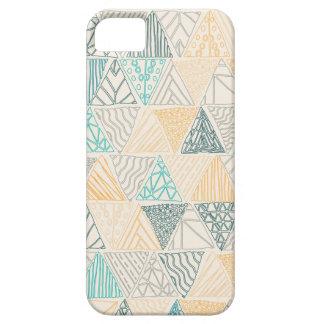 iPhone 5 Case Cas géométrique tiré par la main de téléphone de