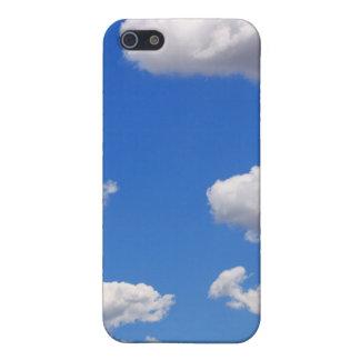 iPhone 5 Case Ciel bleu avec des nuages pour l'arrière - plan