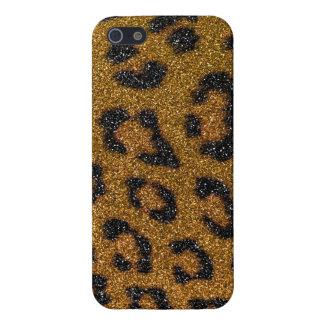 iPhone 5 Case Copie Girly de guépard d'or et de parties