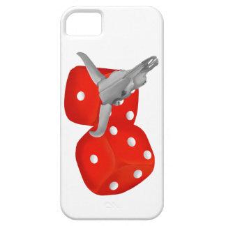 iPhone 5 Case Crâne de vache et matrices de merdes de joueurs