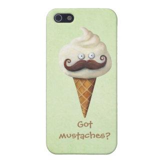 iPhone 5 Case Crème glacée avec des moustaches