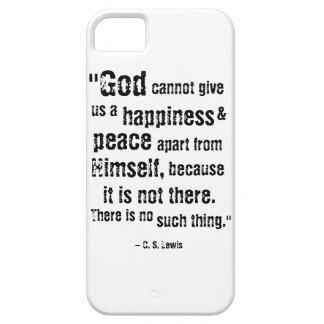 iPhone 5 Case Dieu est cas de téléphone de bonheur